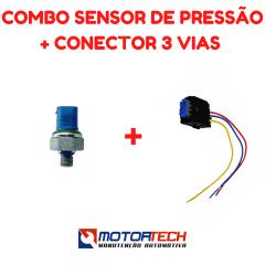 COMBO SENSOR DE PRESSÃO + CONECTOR 3 VIAS (SENSOR AZUL)